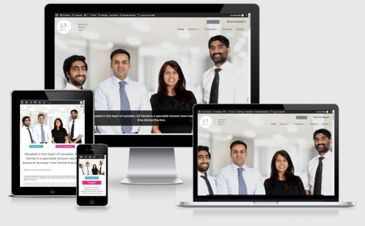 k3 dental website by Clifton Media