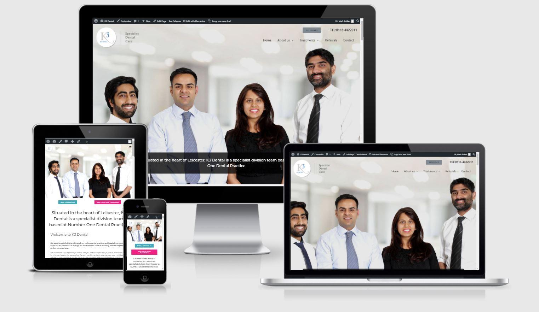 k3 dental website by Clifton Media